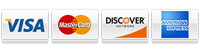 We accpet visa, mastercard, discover, and american express.
