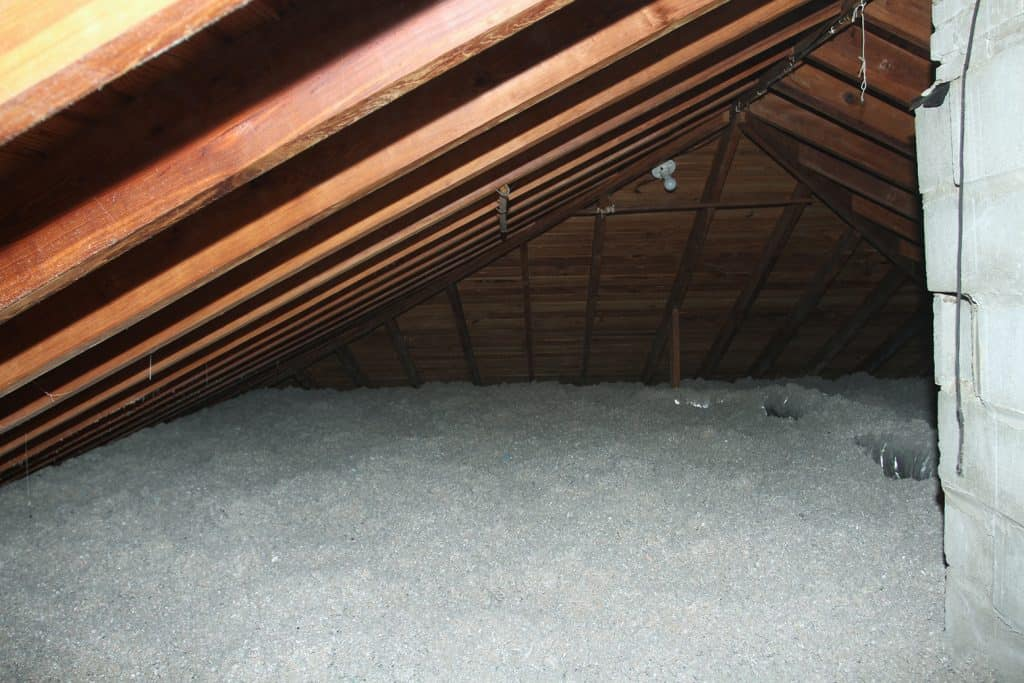 Tempco Pest Control team finished restoring an attic.